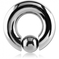 TITANIUM BALL CLOSURE RING WITH POP OUT BALL PIERCING
