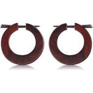 ORGANIC WOODEN STICK EARRING PAIR BLACK -SONO