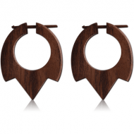 ORGANIC WOODEN EARRINGS PAIR TRIBAL