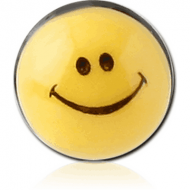 RESIN ATTACHMENT-SMILEY FACE PIERCING