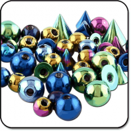 VALUE PACK OF MIX TITANIUM BALLS FOR 1.2MM PIERCING