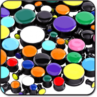 VALUE PACK OF UV ACRYLIC ENAMEL PLUGS PIERCING