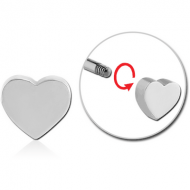 SURGICAL STEEL ATTACHMENT -HEART PIERCING