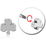 SURGICAL STEEL THREADED ATTACHMENT-CLOVER PIERCING