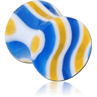 ACRYLIC DOUBLE FLARED WAVE CANDY PLUG PIERCING