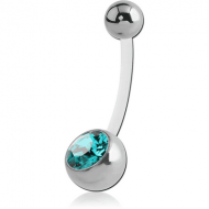 BIOFLEX jewelled NAVEL BANANA WITH SURGICAL STEEL BALL PIERCING
