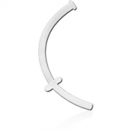 BIOFLEX CURVED RETAINER MICRO LABRET WITH DISC PIERCING