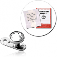 STERILE TITANIUM INTERNALLY THREADED DERMAL ANCHOR WITH JEWELLED DISC PIERCING