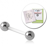 STERILE BIOFLEX BARBELL WITH STEEL BALLS PIERCING
