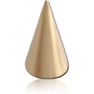 ZIRCON GOLD PVD COATED SURGICAL STEEL LONG CONE