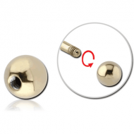 ZIRCON GOLD PVD COATED SURGICAL STEEL MICRO BALL PIERCING