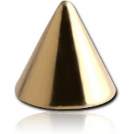 ZIRCON GOLD PVD COATED SURGICAL STEEL MICRO CONE