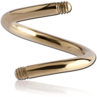ZIRCON GOLD PVD COATED SURGICAL STEEL BODY SPIRAL PIN