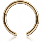 18K GOLD BALL CLOSURE RING PIN