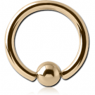 18K GOLD BALL CLOSURE RING