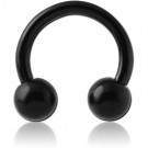 BLACK PVD COATED SURGICAL STEEL CIRCULAR BARBELL