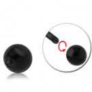 BLACK PVD COATED SURGICAL STEEL MICRO BALL