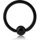 BLACK PVD COATED TITANIUM BALL CLOSURE RING