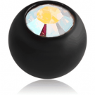 BLACK PVD COATED TITANIUM JEWELLED BALL