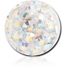 EPOXY COATED CRYSTALINE JEWELLED MICRO BALL