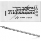 BOX OF 100 STERILIZED STAINLESS STEEL NEEDLES