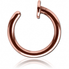 ROSE GOLD PVD COATED SURGICAL STEEL OPEN NOSE RING