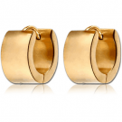 GOLD PLATED STEEL HUGGIES PAIR