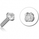 18K WHITE GOLD PRONG SET JEWELLED PUSH FIT ATTACHMENT FOR BIOFLEX INTERNAL LABRET