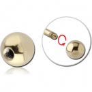 ZIRCON GOLD PVD COATED SURGICAL STEEL BALL