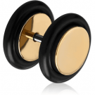 ZIRCON GOLD PVD COATED SURGICAL STEEL FAKE PLUG